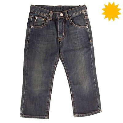 ARMANI JUNIOR Jeans Size 2Y / 94CM Faded Contrast Stitching Adjustable Waist