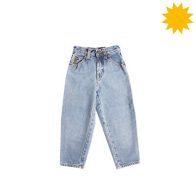 RRP €155 GIORGIO ARMANI JUNIOR Jeans Size 5Y Faded Effect Zip Fly Made in Italy