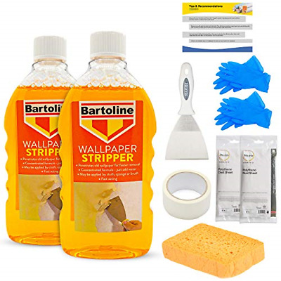 Wallpaper Stripper Bundle - Includes All You Need for Fast Removal - 2 x Liquid,
