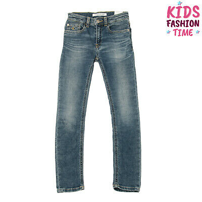 CALVIN KLEIN JEANS Jogg Jeans Size 8Y / 128CM Stretch Faded Effect Skinny Fit