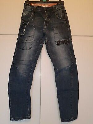 Boys Age 11-12 ETO Blue Skateboarding Shaped Jeans - Great Condition
