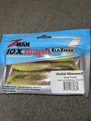 Z-Man Scented PaddlerZ 5 inch Soft Body Paddle Tail Swimbait Lure Zman 5 pack