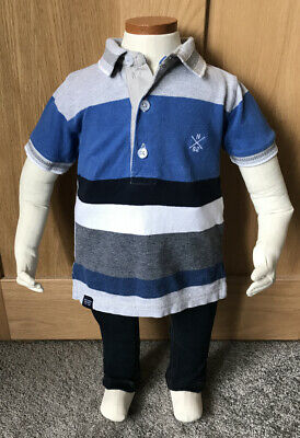 Boys Next Polo Shirt And Jeans Age 6-9 Months