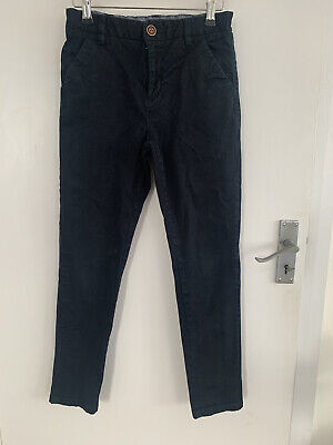 Next Boys Navy Blue Chinos Slim Trousers Age 11 Great Condition