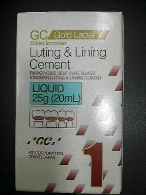 Gc Gold Lable Glass Lomer Luting & Linning Cement Liquid 20 ml