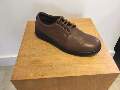 Padders LUNAR Mens Leather Casual Lace-Up Extra Wide G//H Dual Fit Shoes Taupe
