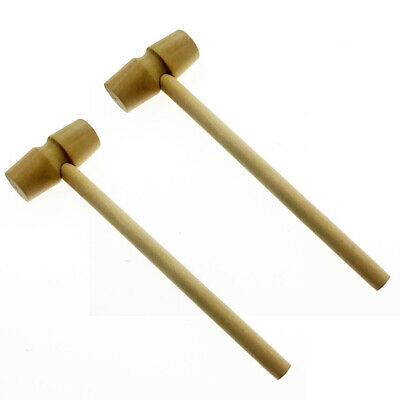 2pcs Mini Wooden Stick Hammer Cake Chocolate Mallet Kids Educational Toys A#S