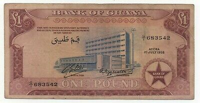 Ghana 1 Pound 1958 Pick 2 A Look Scans