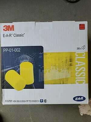 3M EAR E-A-R PP-01-02 Classic Uncorded Foam Ear Plugs SNR 28dB x 250pairs