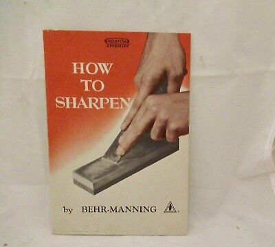 1950 Behr-Manning guide How to Sharpen w. original advertising shipping envelope