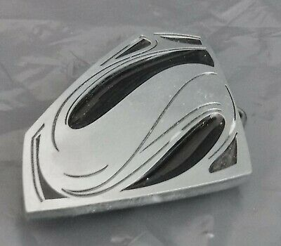 Superman Belt Buckle in Pewter Marked TM & DC Comics
