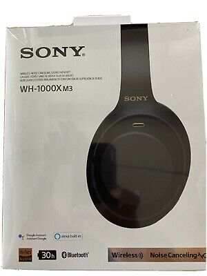 Sony Wireless Noise Canceling Over Ear Headphones WH-1000XM3 - Black New