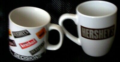"2 HERSHEY'S Mugs Collectible ""Decisions"" ""Live Love Chocolate"""