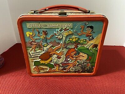 Pebbles and Bam Bam vintage metal lunchbox