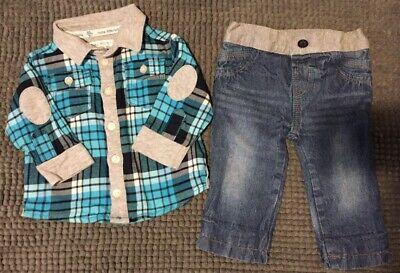 Little John Rocha Baby Boys Shirt And Jeans Set Age 3-6 Months