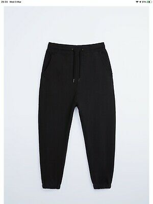 🌈 Mens Zara Black Faded Joggers Size M BNWT Relaxed