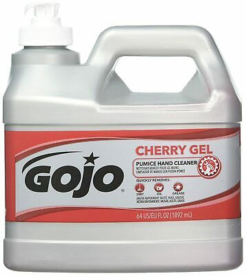 GOJO 1/2 Gallon Pump Bottle Clear Red Cherry Scent Heavy Duty Hand Cleaner