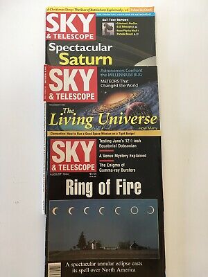 Sky And Telescope Magazine - 3 Various Issues