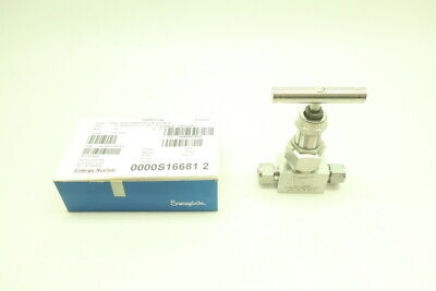 Swagelok SS12NBS8GSHW20W22440C Manual Stainless Needle Valve 6000psi 1/2in Tube