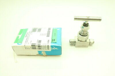 Swagelok SS-12NBS8-G-SH-W20W22 Manual Stainless Needle Valve 6000psi 1/2in Tube