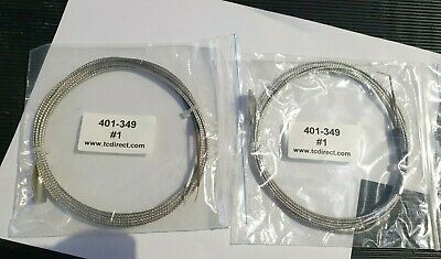 TC DIRECT 401-349 Type T - Stainless Steel/Fibreglass Leads 2/PK (IN12S2B1)