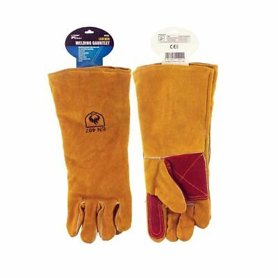New Pro User Premium Classic Fit Leather Welding Gauntlet Gloves Tan Brown BNWT