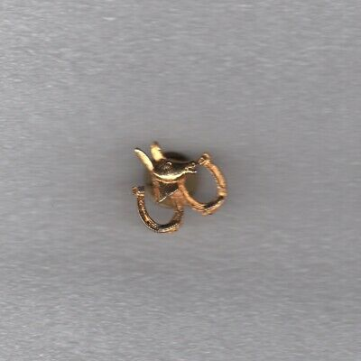 LAPEL PIN TIE TACK Horse with two Horseshoes