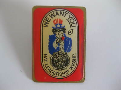 """American Legion Uncle Sam """"We Want You"""" 1987 Hat Lapel Pin"""