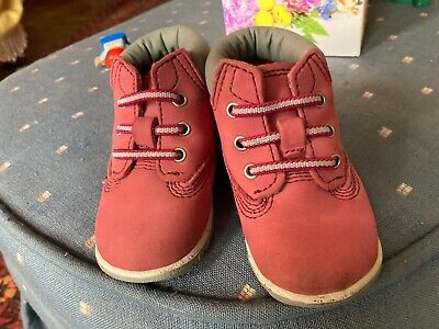 Pink Baby Timberland's size 1.5
