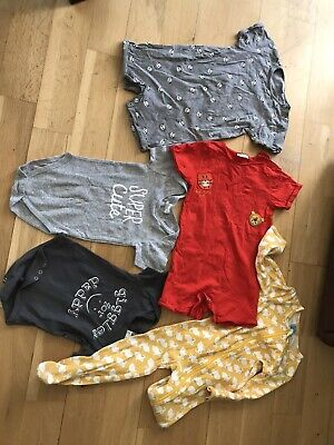 Next And Mixed Baby Toddler Sleepsuit Bodysuits Rompers Bundle 5 Items 12-24mths