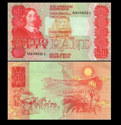 South Africa 50  Rand 1984-1990 Year P 122 Unc