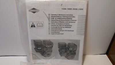 Briggs & Stratton engine Operating and Maintenance Instructions new in plastic