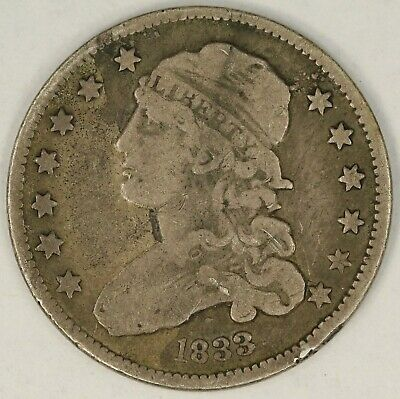 1833 Capped Bust Quarter. RAW3821/LN