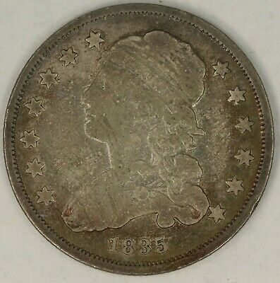 1835 Capped Bust Quarter. RAW3820/EH