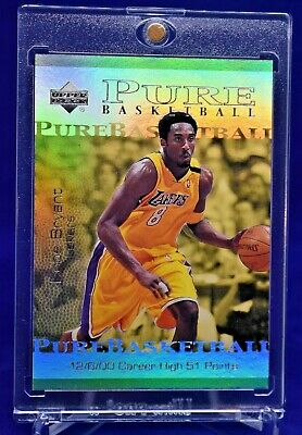Kobe Bryant W/ Michael Jordan Pure Basketball Ud Rainbow Refractor Beauty Sp