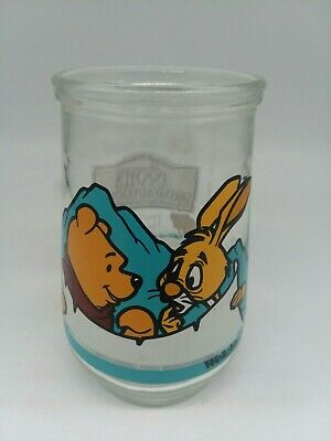 Welch's Disney Winnie The Pooh & Rabbit Glass Jelly Jar 1997 Great Condition