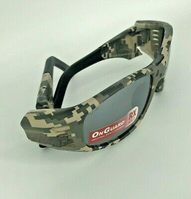 OG 240S ON GUARD RXable CAMO COLOR NEW  with SUNGLASS Safety lens 61-15-135