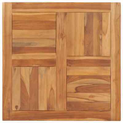 vidaXL Solid Teak Wood Table Top 70cm Table Accessories Replacement Dining Top