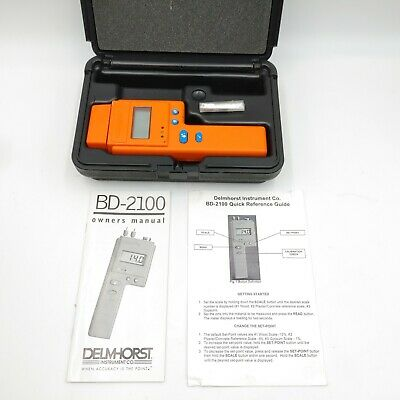 Delmhorst BD-2100 Moisture Meter - With Original Case - Owners Manual & Guide