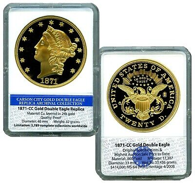 1871 Cc Gold Double Double Eagle Commemorative Coin Proof Lucky Many $99.95