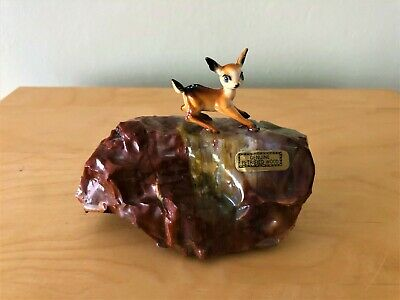 Collectable & Rare Vintage Genuine Petrified Wood Deer Fawn Bambi Fred Harvey