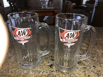 A & W 2003 Dated Root Beer Mugs. Very Good Condition. Lot Of 2