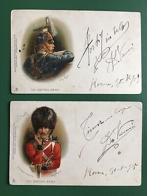 Post Card Tuck & Sons' - The British Army -  N°111 E 113 - Viaggiate 1905 - Roma