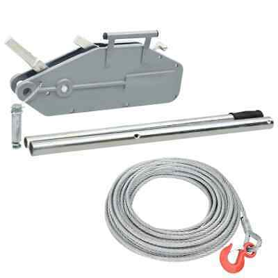 71208 DRAPER Expert 2400kg Turfer Winch Puller 20m Wire Rope Cable Lifter Hoist