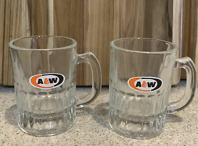 "Vintage A&W Root Beer Mini Baby Mug Oval Logo AW Original Authentic 3 1/8"" Tall"