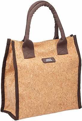 KitchenCraft Natural Elements Cork Lunch Bag with Food Safe Lining, Sustainable
