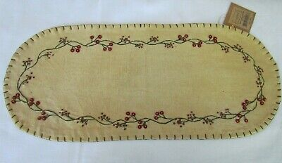 Small CHICK table runner doily candle mat primitive style GR-154 Easter Collins