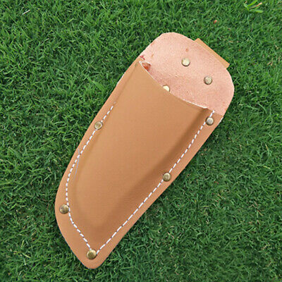 1Pc Gardening Pruning Pouch Cowhide Pliers Shears Scissors Cover Tool Bag(Brown)