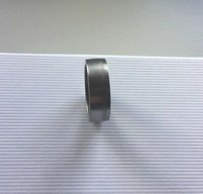 Titanium Gents ring Size X 8mm Width Fabulous To Wear Smooth Finish Wedding Ring
