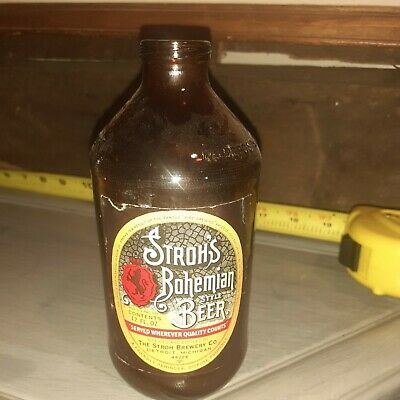 1971 12oz Stroh's Bohemian Beer Bottle